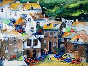 A12COMMENDED - ''Port Isaac, Cornwall by Shirley Cock