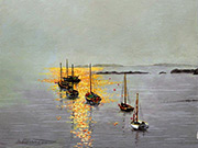 a152015 'Autumn ASA Award' - 'Moorings in the Mist - Porth Diana' by Mike Harrison
