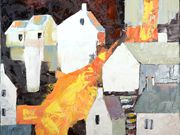a15COMMENDED 'Village in Autumn, by Marilyn Rhind