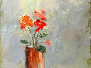 a18COMMENDED 'Geraniums in a vase' by Veronica McDermott
