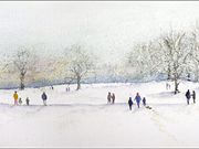 S11FRED TAYLOR (R.U.) - Sledging in the park, Sue Brereton