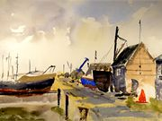 S12FRED TAYLOR (RU) 'Southwold Boat Shed' by Colin Baldry