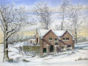 S12OONA LOWSBY (RU) 'Old Mill in winter, Dunham' by Mike Harrison