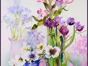 s15COMMENDED - 'Summer Flowers' by Sylvia Kenyon-Case