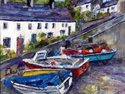 S17COMMENDED 'Moelfre Boats' by Pat Brown