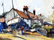 s19FRED TAYLOR CUP (W) 'Pin Mill Boatyard' by Alan Pedder
